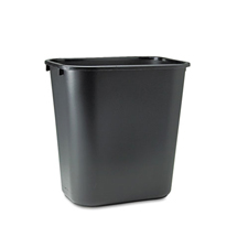 Rubbermaid� Desk Trash Can Black