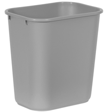 Rubbermaid� Desk Trash Can Gray