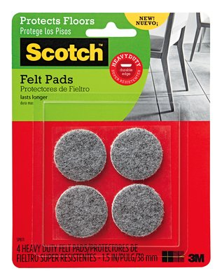 3M Scotch Heavy Duty Felt Pads