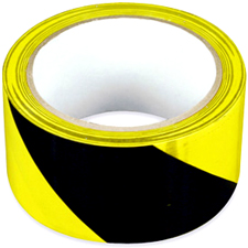 "2""x18yds Aisle Marking Tape Black Yellow"