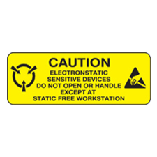 1x3 Caution Electrostatic Devices Label