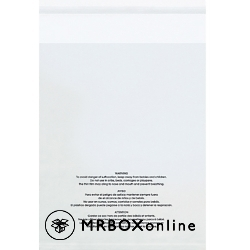 11x14 Clear Resealable Suffocation Warning Bags