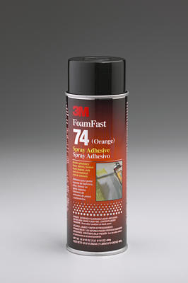 3M Orange Foam Fast 74 Spray Adhesive