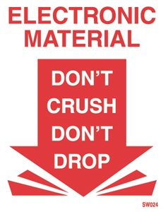 "3""x5\"" Electronic Do Not Crush Labels"