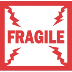 4x4 Fragile English Labels