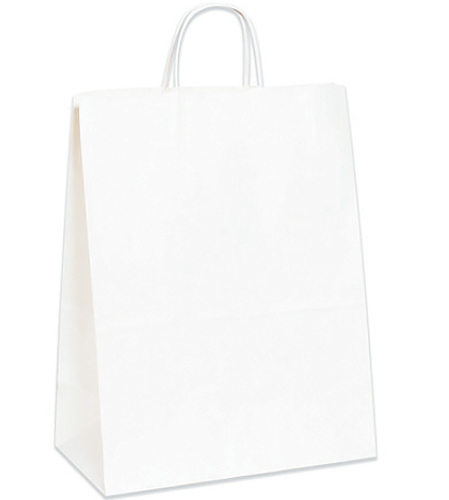 Tempo White Shopping Bags