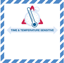 "Temperature Sensitive Label 4.25""x4.25\"""
