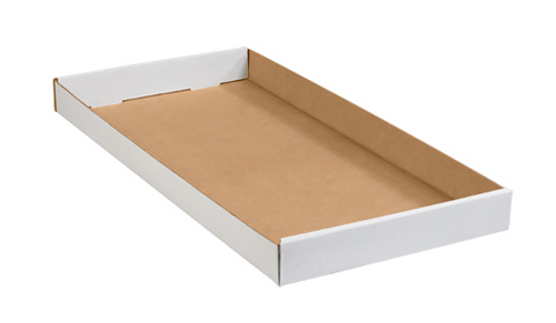 24x12x1.75 White Corrugated Trays