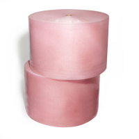 "1/2""x125' 2 rolls slit 24 Pink Antistatic Bubble Wrap"