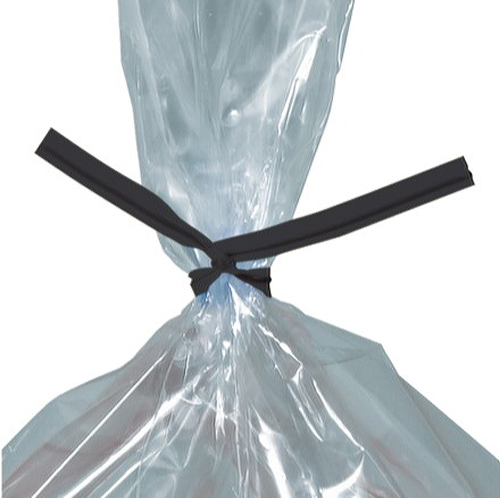 7 Black Plastic Twist Ties