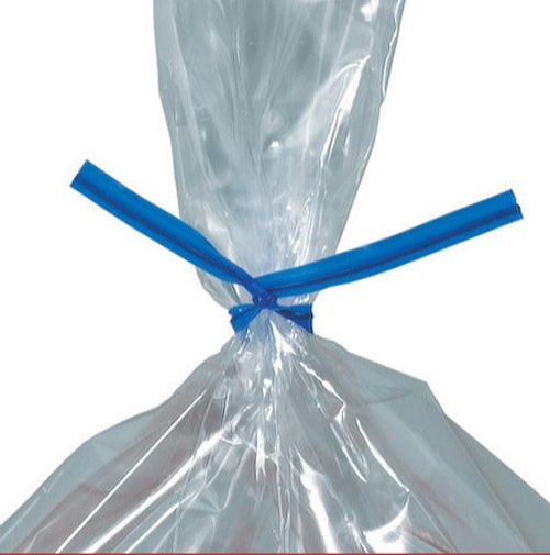 7 Blue Plastic Twist Ties