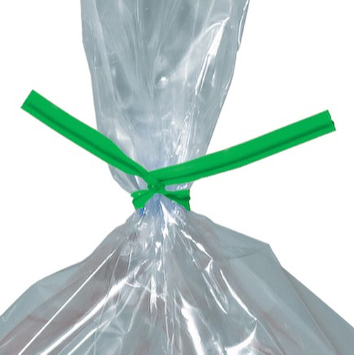 7 Green Plastic Twist Ties