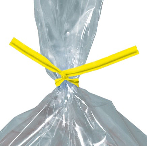 7 Yellow Plastic Twist Ties