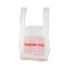 Thank You High-Density Shopping Bags 8x4x16 White