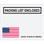 4.5x5.5 USA Packing List Enclosed Envelope