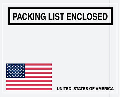 USA Packing List Envelopes