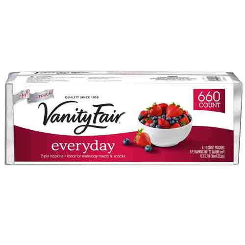 Vanity Fair Everyday Napkins 660ct