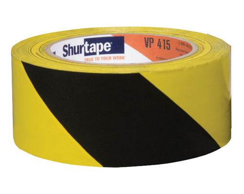 2x36yds Aisle Marking Tape Black Yellow