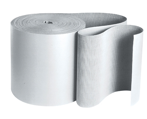 36x250 White Singleface Corrugated Rolls