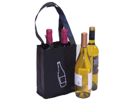 7x3.75x9.25x3.75 2 Bottle Wine Bag