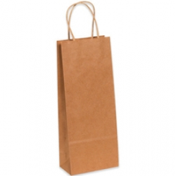 5.25x3.25x13 Kraft Wine Shopping Bags