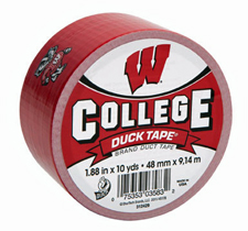 College Duck Tape Wisconsin Badgers
