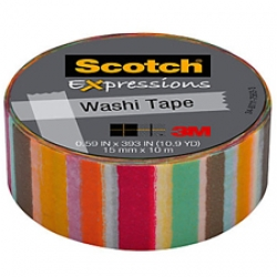 3M Scotch Expressions Washi Tape Blurred Lines