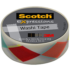 3M Scotch Expressions Washi Tape Diamonds