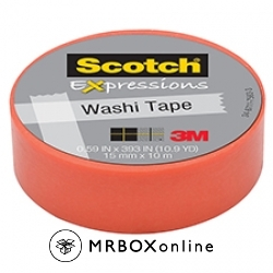 3M Scotch Expressions Washi Tape Orange