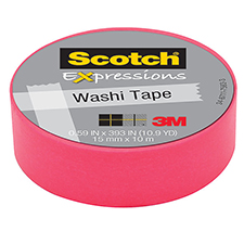 3M Scotch Expressions Washi Tape Pink
