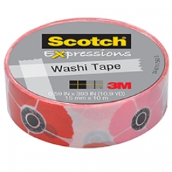 3M Scotch Expressions Washi Tape Poppy