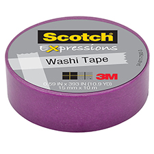 3M Scotch Expressions Washi Tape Purple