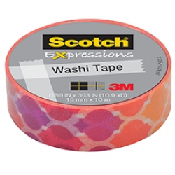 3M Scotch Expressions Washi Tape Quatrefoil Sunset
