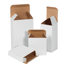 2x2x4 White Chipboard Boxes