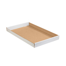 15x12x1.75 White Corrugated Trays