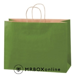 16x6x12 Green Tea Tinted Shopping Bags