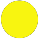 "1.5"" Yellow Fluorescent Circle Labels"
