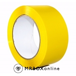 2x110yds Yellow Plastic Box Tape