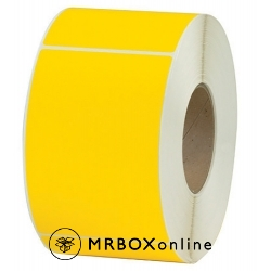 4x6 Yellow Tinted Thermal Transfer Labels 3 inch core