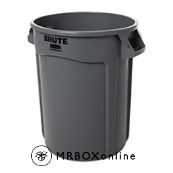 Rubbermaid Round Brute Container 32 gal Gray