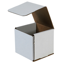 6x6x6 White Die Cut Mailer Boxes