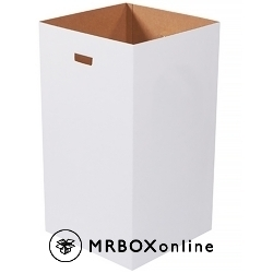 Corrugated Trash Can Plain 18x18x36 50 Gallon